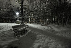 Winter bench Stock Image
