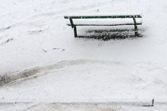 Winter bench. Stock Photography