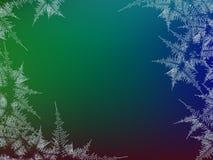 Winter bereifter bunter Hintergrund des Fensters Frost und Wind am Glas Auch im corel abgehobenen Betrag Designbeschaffenheit Stockfotos