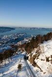 Winter in Bergen stock images