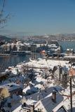 Winter in Bergen Stockfotos