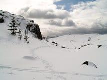 Winter in Bergen. Byfjellene, from Rundeman to Fløyen, Bergen, Hordaland, Norway Royalty Free Stock Photography