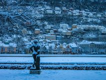 Winter in Bergen, Norway royalty free stock photos