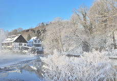 Winter,Bergisches Land,River Wupper,Solingen,Germany Royalty Free Stock Photos