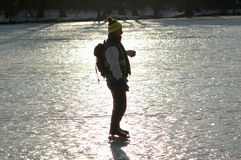 Winter in Berlin. JANUARY 2006 - BERLIN: people on the frozen Wannsee in Berlin royalty free stock photos