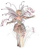 Winter Berries Fairy. Digital render of a winter fairy with bright red berries Stock Photos