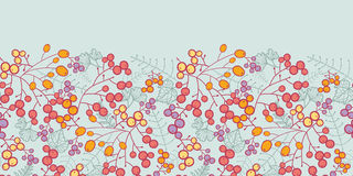 Winter berries horizontal seamless pattern Stock Image