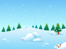 Winter BG Lizenzfreies Stockfoto