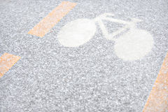 Winter Bicycle Lane Stock Photo