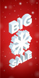 Winter Big Sale and big snowflake Royalty Free Stock Images