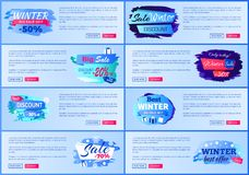Winter -50 Big Sale 2017 Vector Illustration. Winter -50 big sale 2017, discount offer only today, web pages for internet site, that allows to buy products Stock Photos