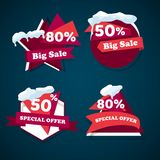 Winter big  sale templates banner Royalty Free Stock Images