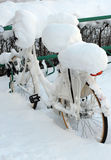 Winter bike Royalty Free Stock Photos
