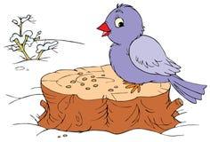 Winter bird (vector clip-art). Vector clip-art / children's illustration for your design Stock Photo