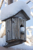 Winter Birdhouse Stock Image