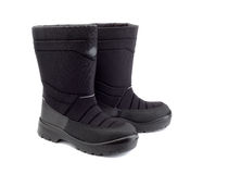 Winter black boots Royalty Free Stock Photo