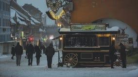 Winter blizzard, Brasov, Romania stock video