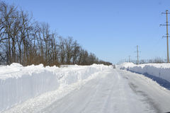 Winter blizzard Royalty Free Stock Images