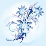 Winter-bloemen stock illustratie