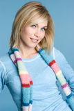 Winter Blond Girl Stock Image