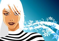 Winter Blonde. Model in a winter scene royalty free illustration