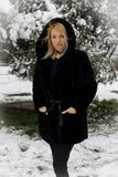 Winter and blonde Stock Photo