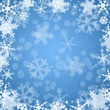 Winter blue background. Abstract winter blue background snowflake Stock Image