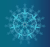 Winter blue background Stock Photography