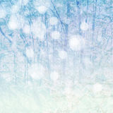 Winter blue background. Abstract winter blue background with snowlakes Royalty Free Stock Image