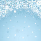Winter blue background design Royalty Free Stock Image