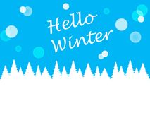 Winter blue background for design Royalty Free Stock Photography
