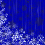 Winter blue background with snowflakes Stock Image