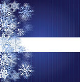 Winter blue background with snowflakes Royalty Free Stock Photo