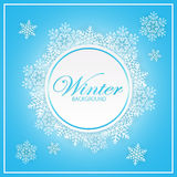 Winter blue background with snowflakes Royalty Free Stock Images