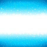Winter blue background with textarea Royalty Free Stock Photos