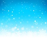 Winter blue background Royalty Free Stock Photography