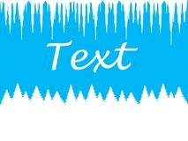 Winter blue background for writing text Royalty Free Stock Image