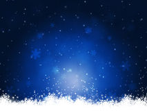Winter Blue Christmas Background Stock Photography