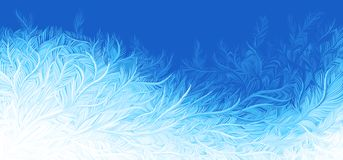 Free Winter Blue Curly Ice Frost Christmas Background. Vector Illustration Royalty Free Stock Photos - 158905248