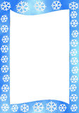 Winter. Blue frame with illustration of winter in the form of flakes vector illustration