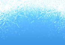 Winter Blue Ice Frost Background Royalty Free Stock Image