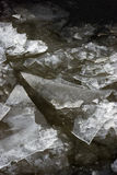 Winter blue ice, frozen river Stock Image