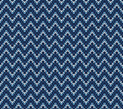 Winter blue knitted pattern, vector  Royalty Free Stock Image