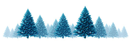 Winter Blue Pine Background stock illustration