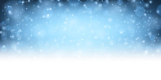 Winter blue shining background. Vector illustration Royalty Free Stock Photo