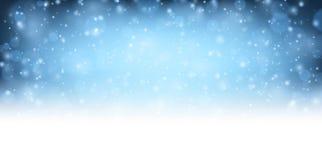 Winter blue shining background. Royalty Free Stock Photo