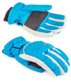 Winter blue ski glove isolated Stock Photos