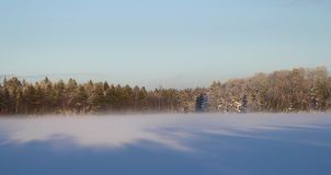 Winter Blue Sky. A sunny winter day by Lagan, Sweden Stock Images