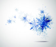 Winter blue snowflakes stock illustration