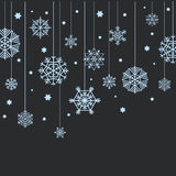 Winter blue snowflakes Royalty Free Stock Image